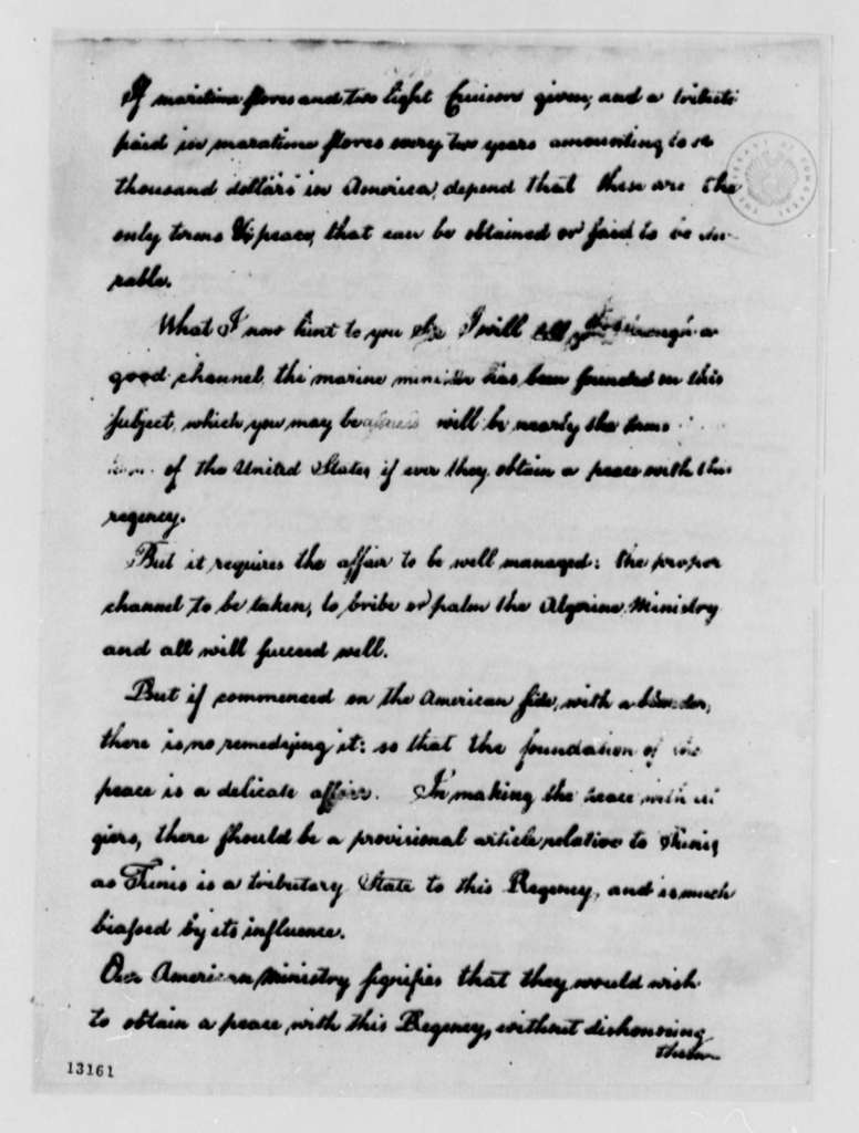 Richard O'Brien to Stephen Cathalan, September 27, 1791