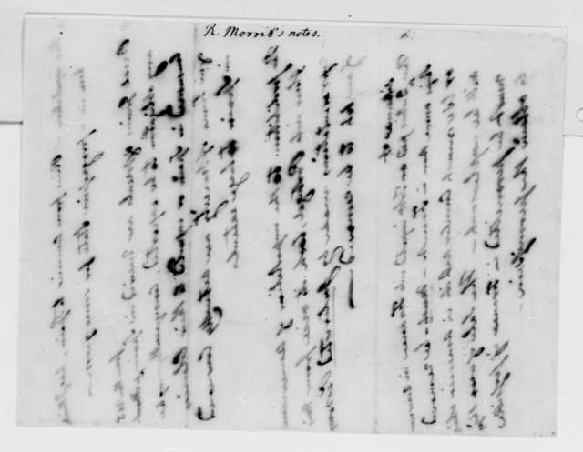 Robert Morris, July 19, 1791, Rice Exportation