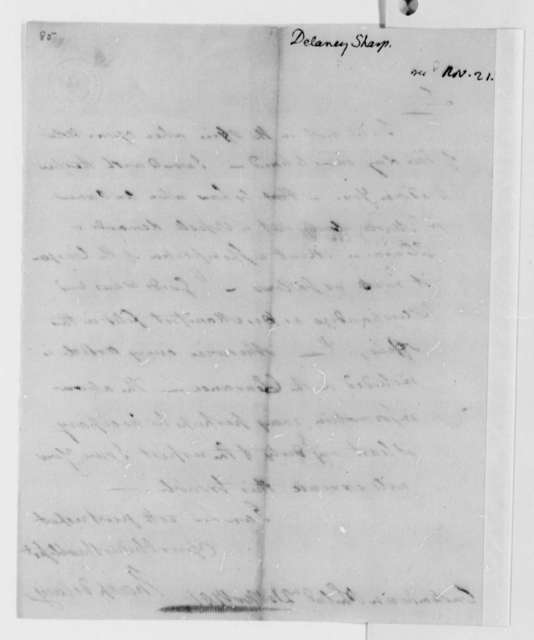 Sharp Delany to Thomas Jefferson, November 21, 1791