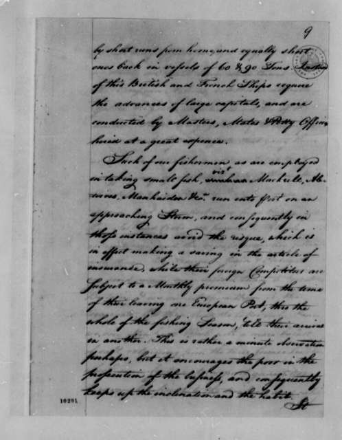Tench Coxe to Thomas Jefferson, 1791, Miscellaneous Notes on Fisheries