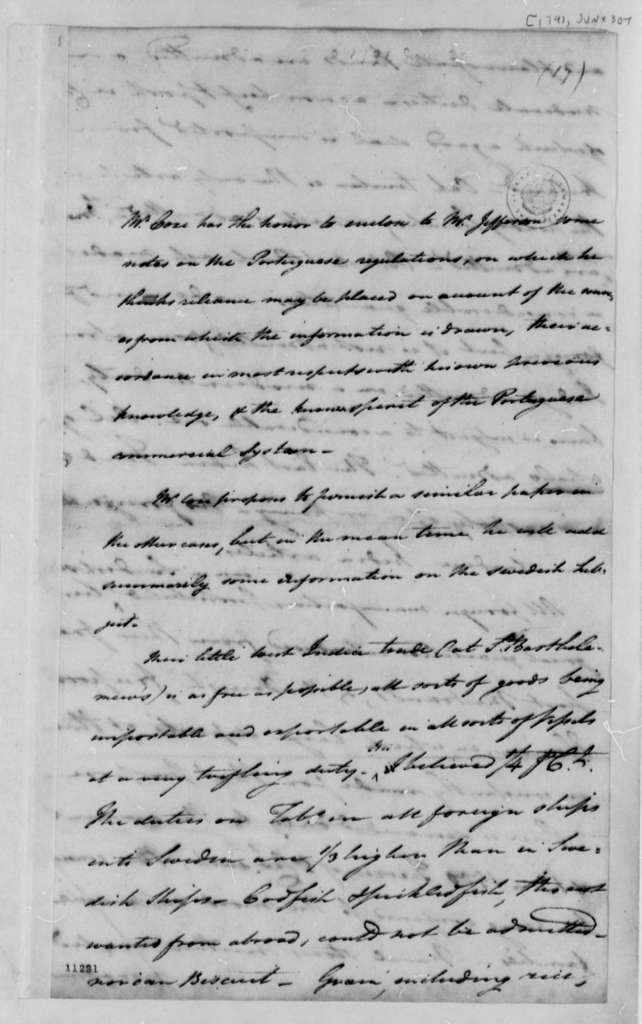 Tench Coxe to Thomas Jefferson, June 30, 1791