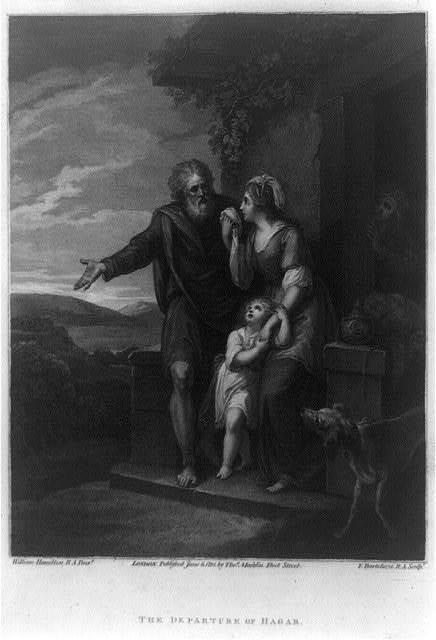 The departure of Hagar / William Hamilton R.A. pinxt. ; F. Bartolozzi R.A. sculpt.