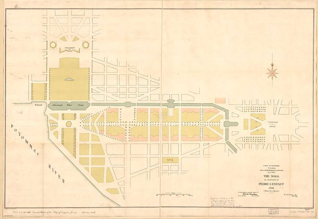The Mall as proposed by Pierre L'Enfant 1790 : from the original : Washington D.C.