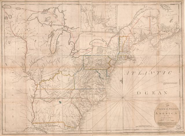The United States of America, laid down from the best authorities, agreeable to the peace of 1783 /