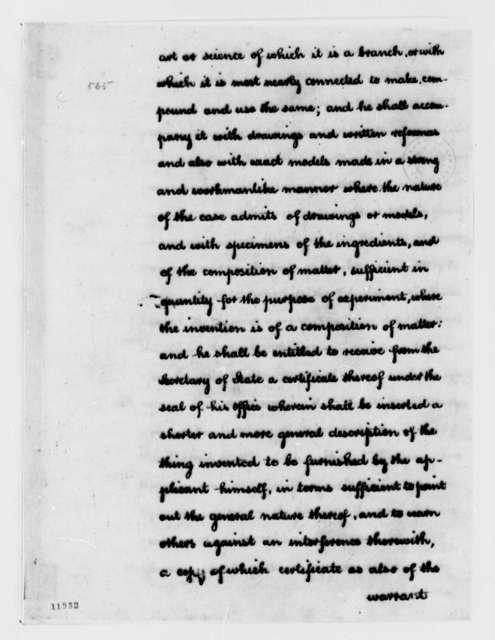 Thomas Jefferson, December 1, 1791, Bill on Useful Arts, Copyright