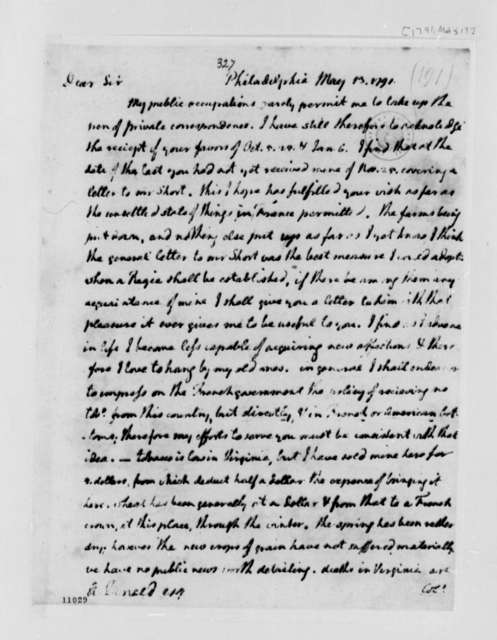 Thomas Jefferson to Alexander Donald, May 13, 1791, with Copy