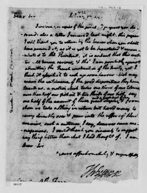 Thomas Jefferson to Alexander Hamilton, February 13, 1791