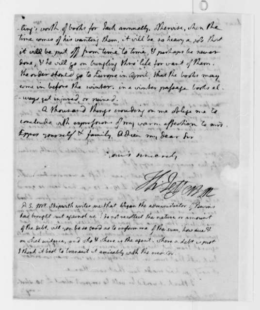 Thomas Jefferson to Francis Eppes, October 5, 1791