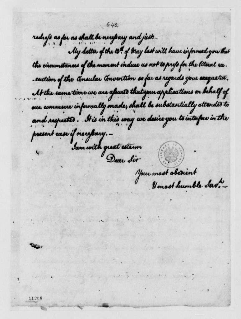 Thomas Jefferson to Fulwar Skipwith, June 24, 1791