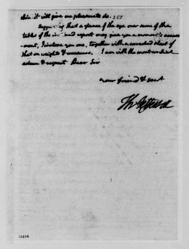 Thomas Jefferson to George Wythe, March 14, 1791, with Copy