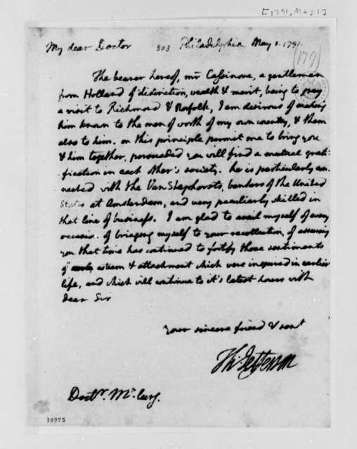 Thomas Jefferson to James McClurg, May 1, 1791