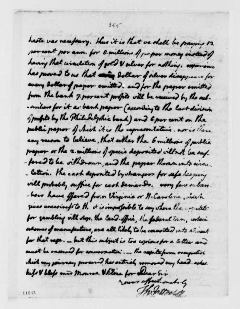 Thomas Jefferson to James Monroe, July 10, 1791