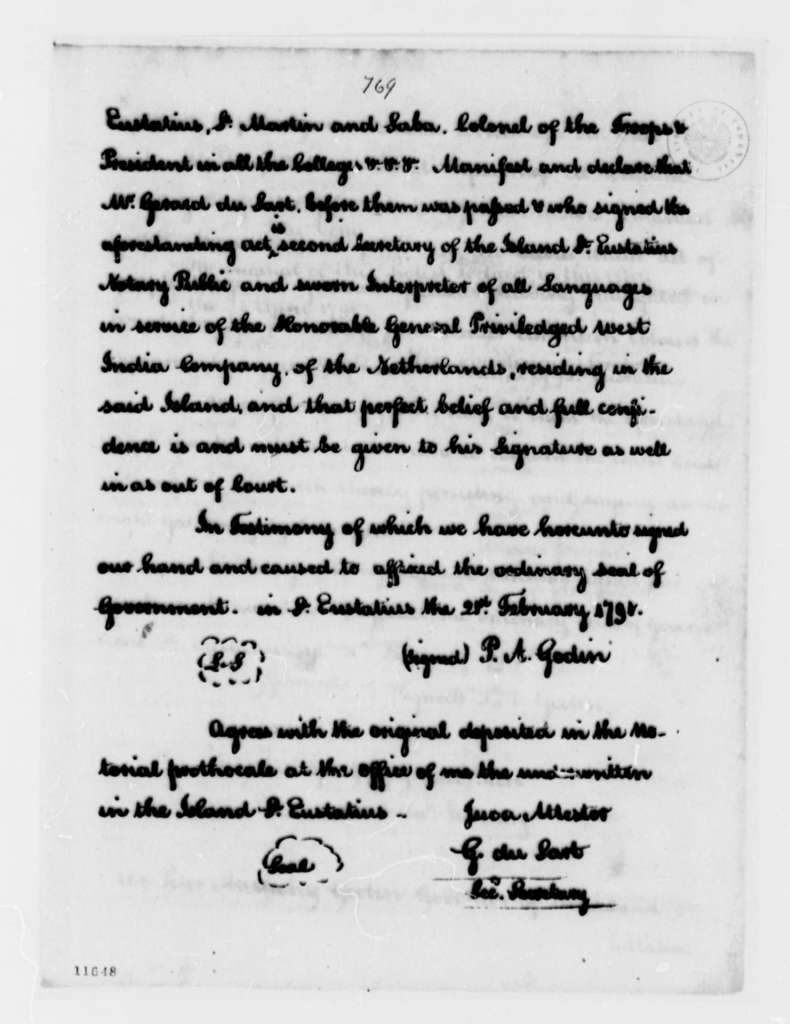 Thomas Jefferson to Jean Baptiste Ternant, November 16, 1791, with Report