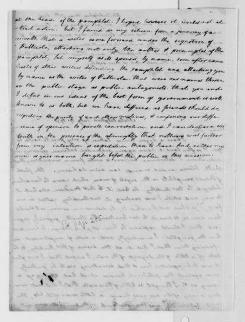 Thomas Jefferson to John Adams, May 13, 1791
