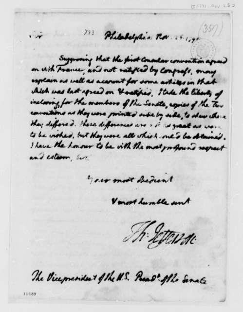 Thomas Jefferson to John Adams, November 25, 1791