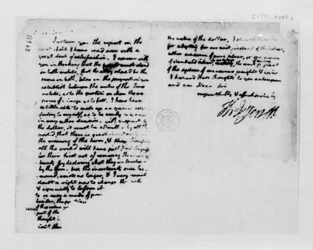 Thomas Jefferson to John Harvie, April 7, 1791, Partly Illegible