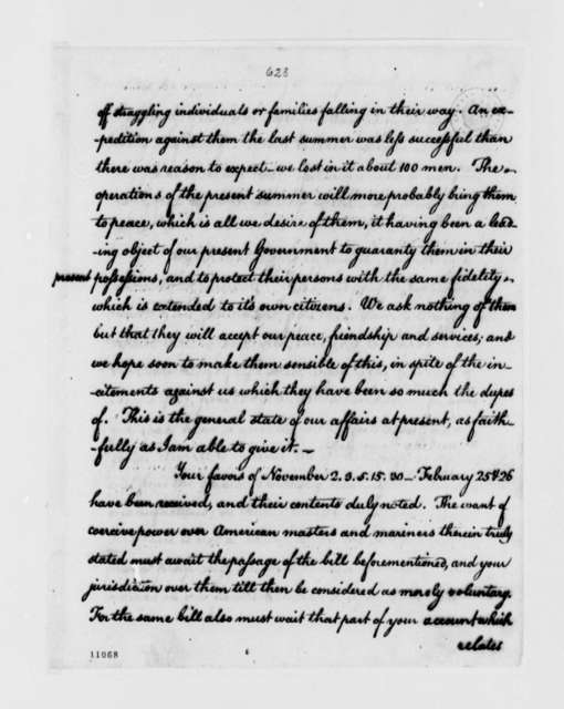 Thomas Jefferson to Joshua Johnson, May 13, 1791