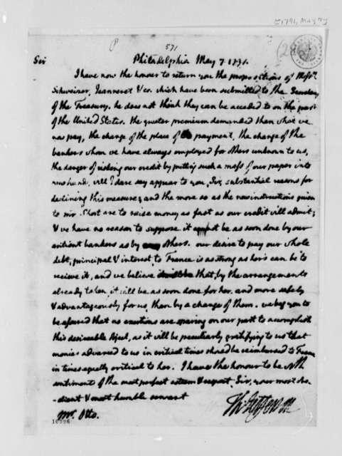 Thomas Jefferson to Louis Guillaume Otto, May 7, 1791