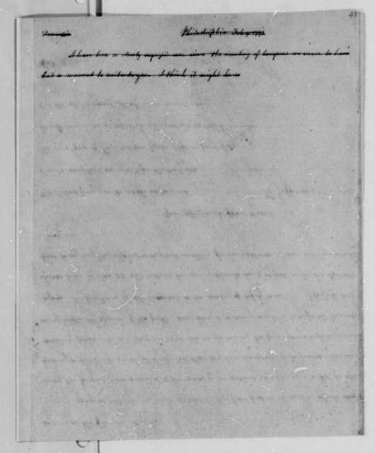Thomas Jefferson to Nicholas Lewis, February 9, 1791, with Copy