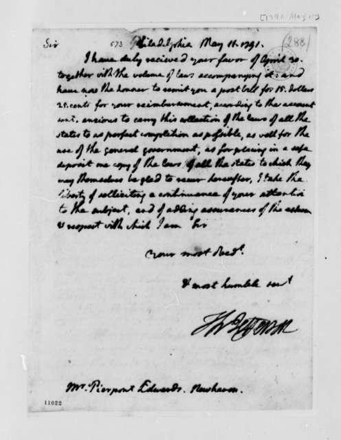 Thomas Jefferson to Pierpont Edwards, May 11, 1791