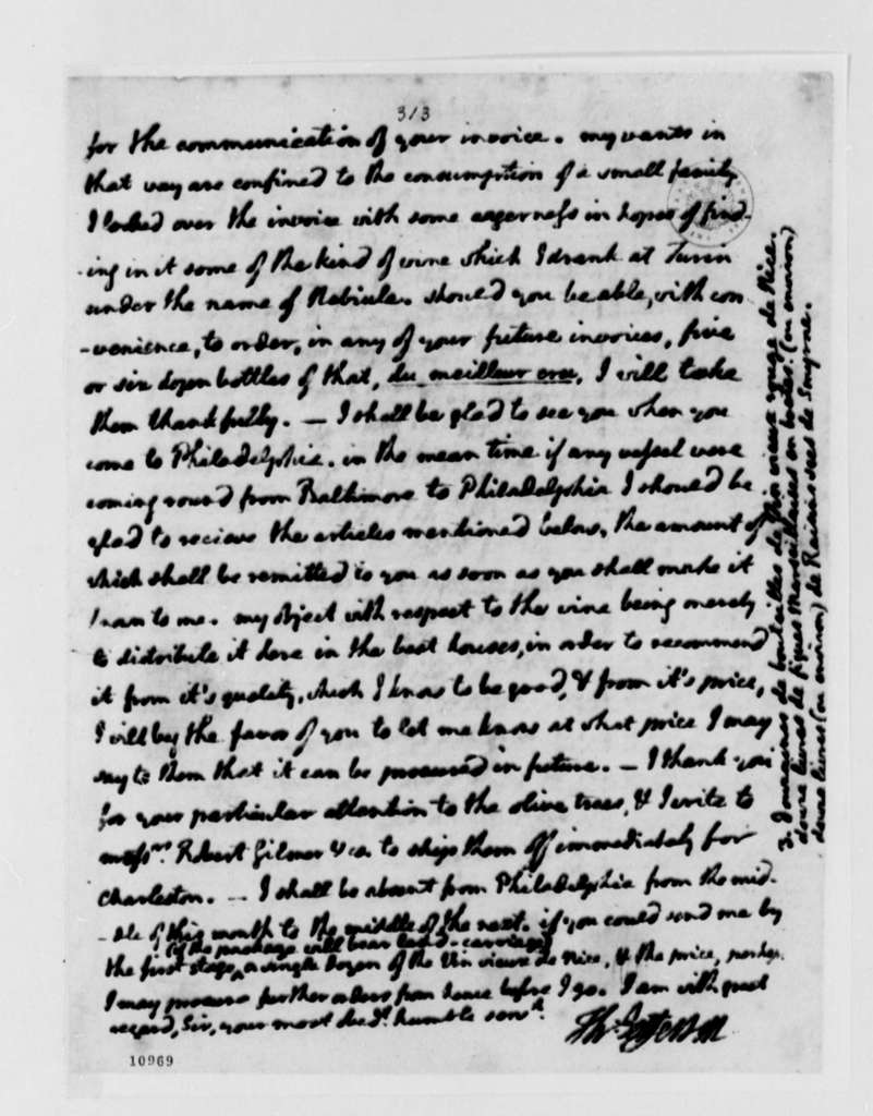 Thomas Jefferson to Pierre Gudie, May 1, 1791, with Copy