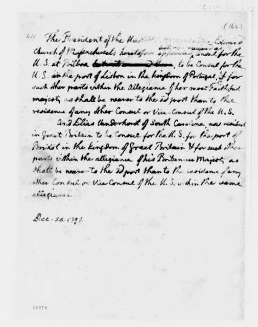 Thomas Jefferson to Senate, December 24, 1791, Report