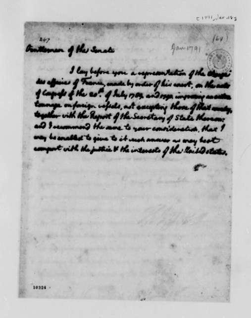 Thomas Jefferson to Senate, January 18, 1791
