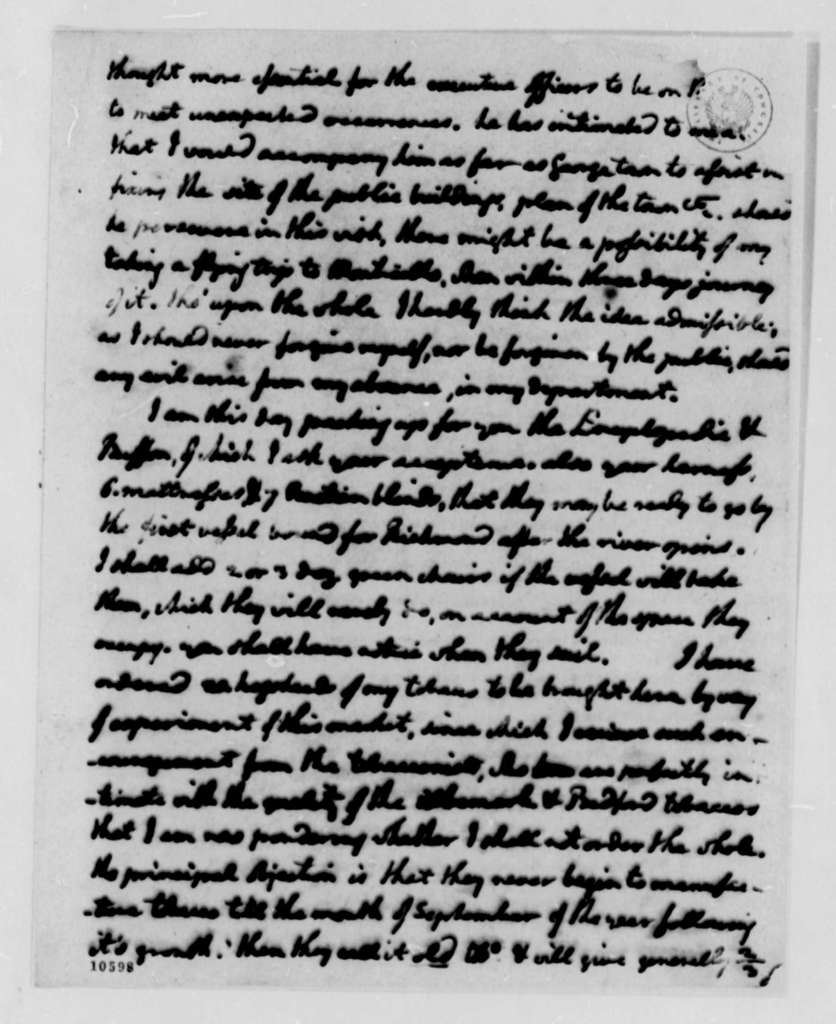 Thomas Jefferson to Thomas Mann Randolph, Jr., February 24, 1791, with Copies