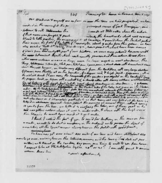 Thomas Jefferson to Thomas Mann Randolph, June 5, 1791