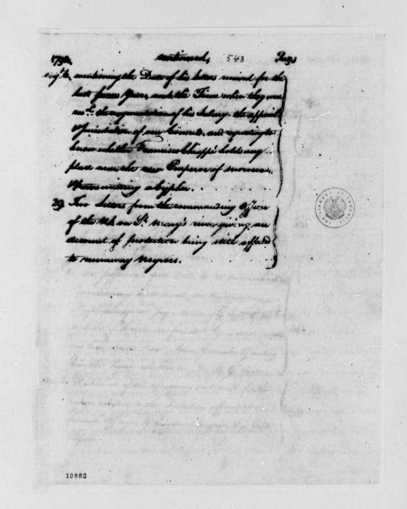 Thomas Jefferson to William Carmichael, April 11, 1791, Cipher and Translation, with List