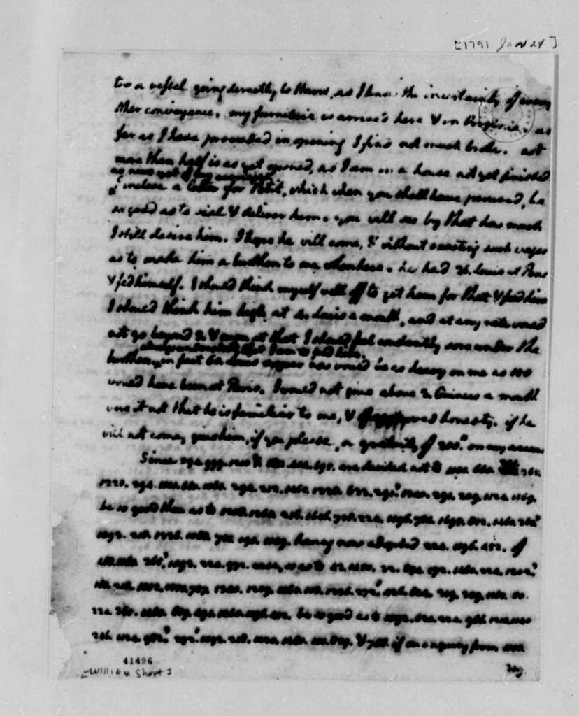 Thomas Jefferson to William Short, January 24, 1791