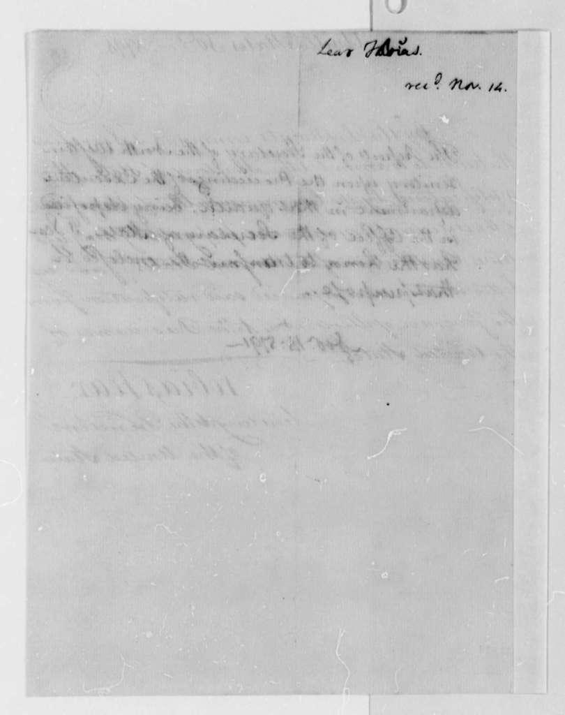 Tobias Lear to Thomas Jefferson, November 14, 1791