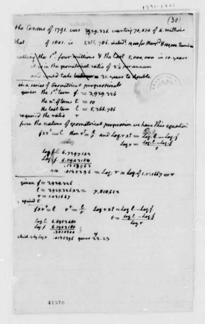 United States Census, 1791, Census Calculations, 1791 and 1801