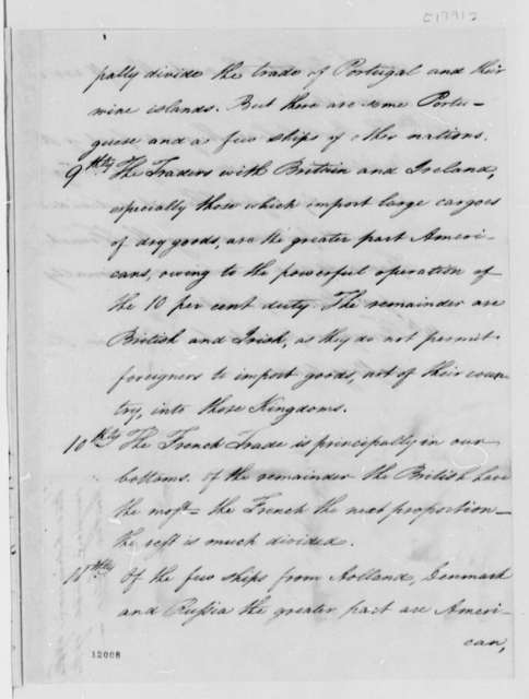 United States Commerce, 1791, Opinions on Carrying Trade