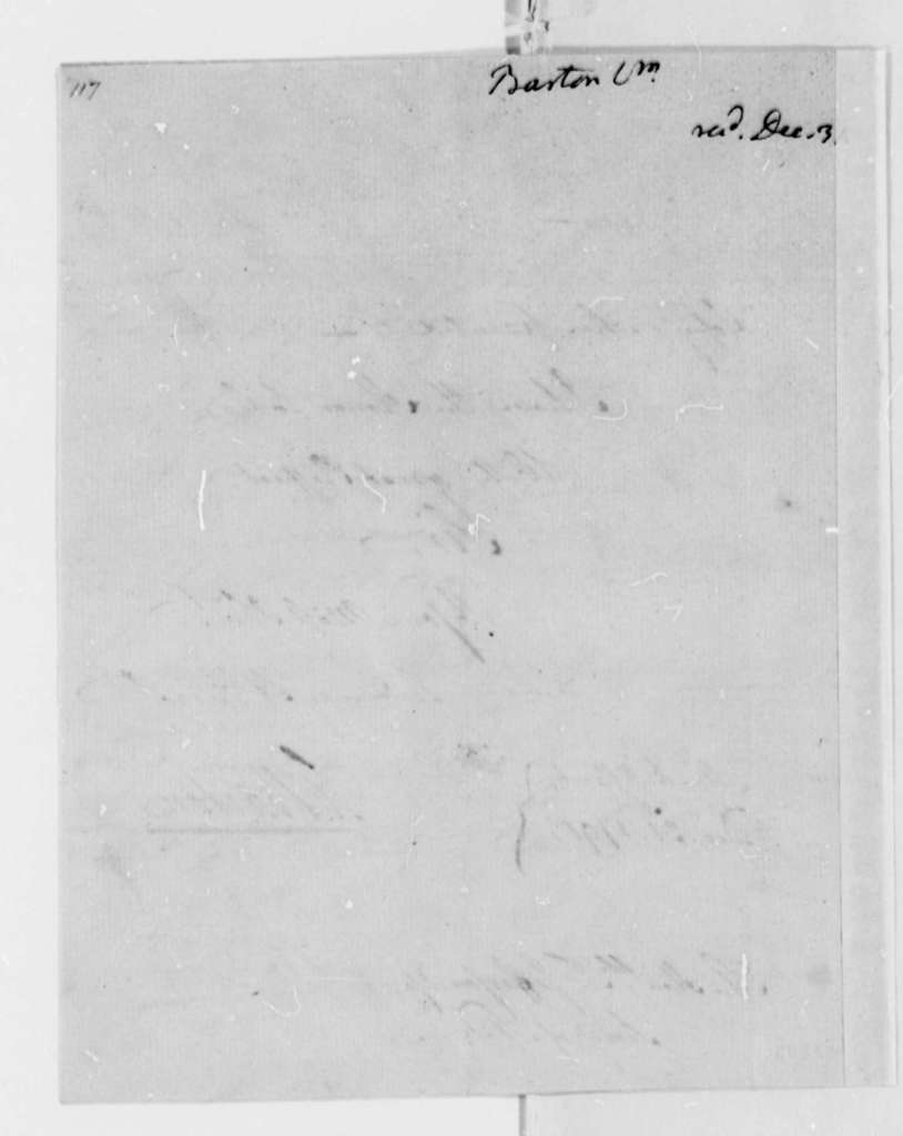 William Barton to Thomas Jefferson, December 31, 1791