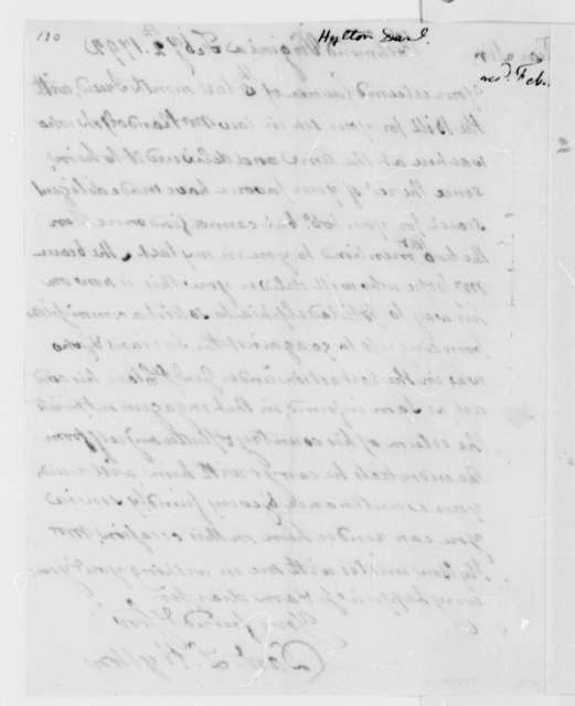 Daniel L. Hylton to Thomas Jefferson, February 2, 1792