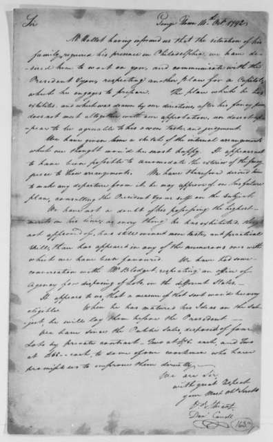 David Stuart and Daniel Carroll, Commissioners to Thomas Jefferson, October 14, 1792
