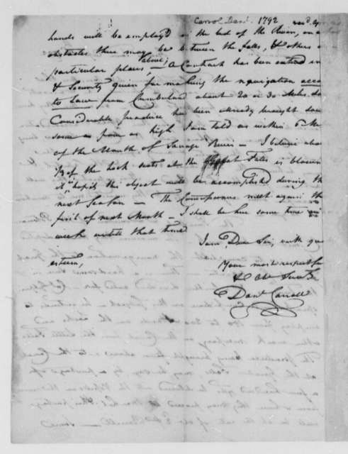 David Stuart and Daniel Carroll, Commissioners to Thomas Johnson, April 16, 1792