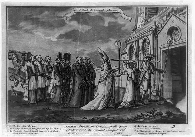 Derniere procession constitutionelle pour l'Enterrement du serment civique qui se fera le 1792