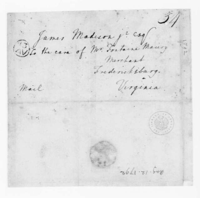 Edmund Randolph to James Madison, August 12, 1792.