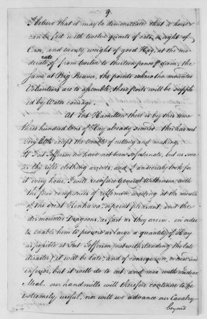 George Washington Papers, Series 4, General Correspondence: Anthony Wayne to Henry Knox, August 24, 1792