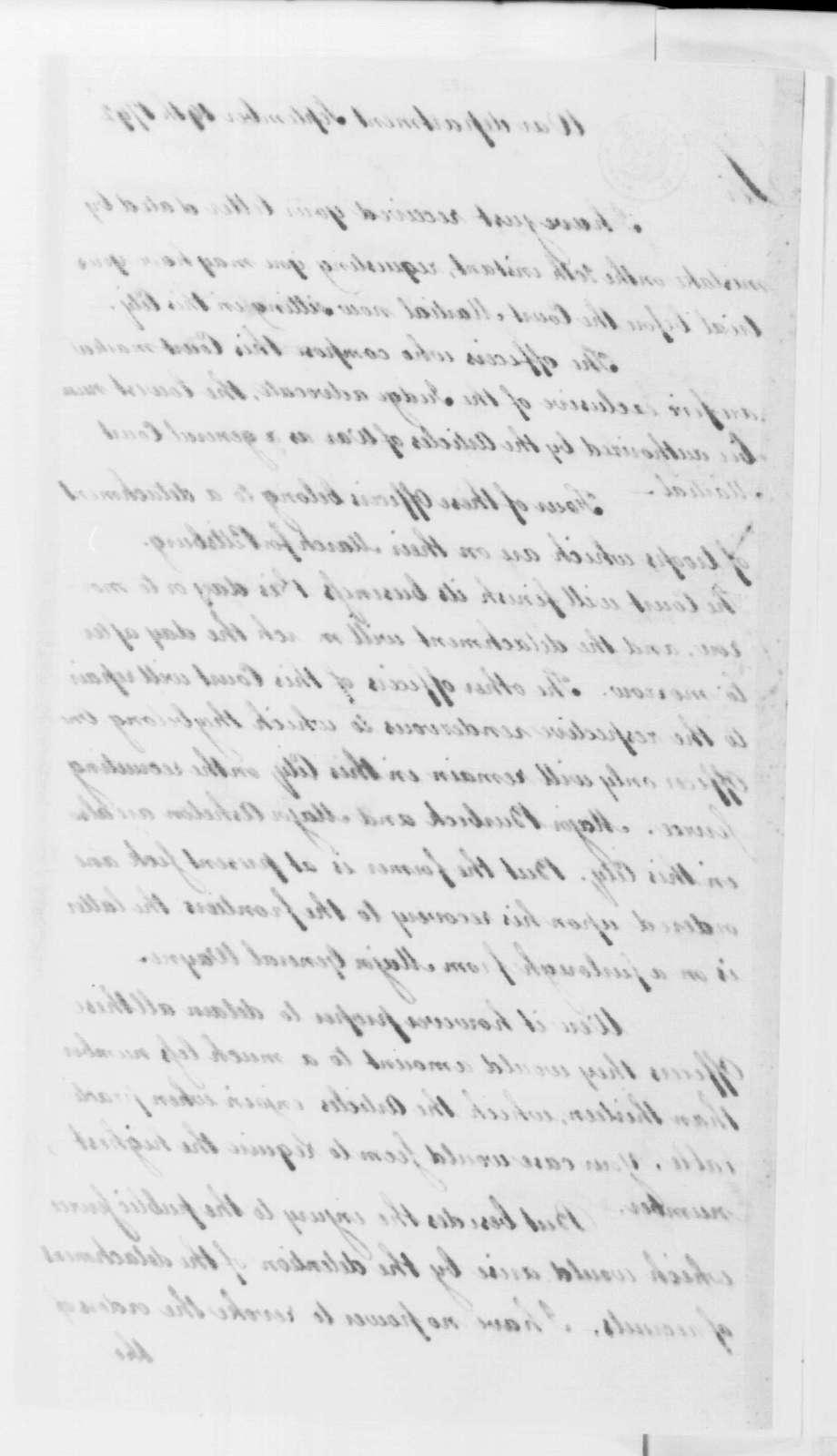 George Washington Papers, Series 4, General Correspondence: Henry Knox to John Morgan, September 19, 1792