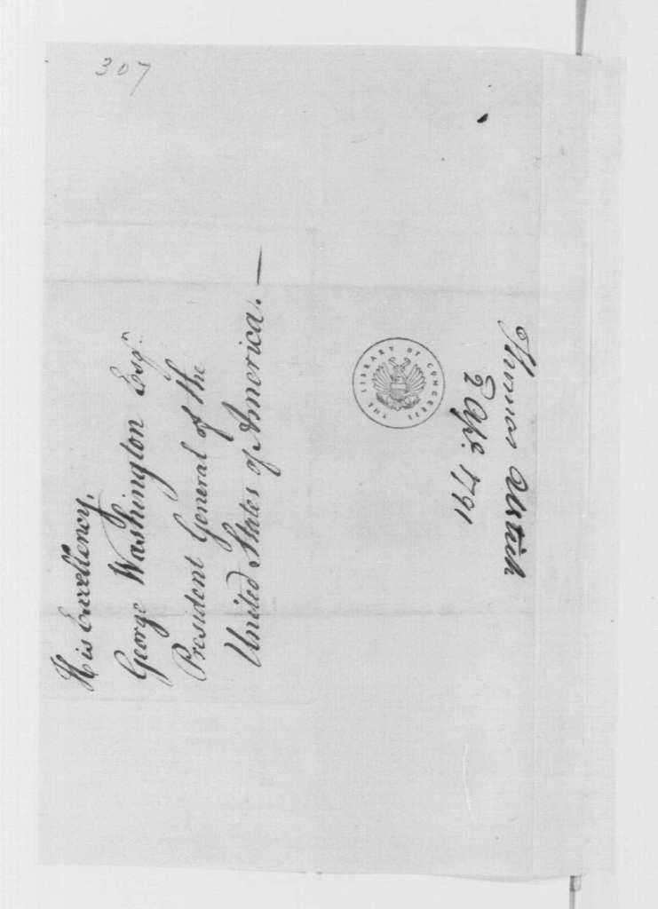 George Washington Papers, Series 4, General Correspondence: Thomas Ustick to George Washington, April 2, 1792