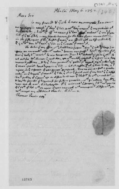 George Washington to Thomas Paine, May 6, 1792