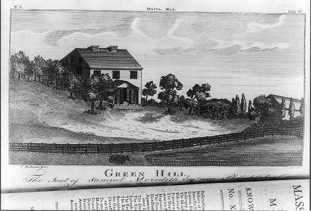 Green Hill, the seat of Samuel Meredith Esqr. near Philadelphia / J. Hoffman del. ; S. Hill sc.