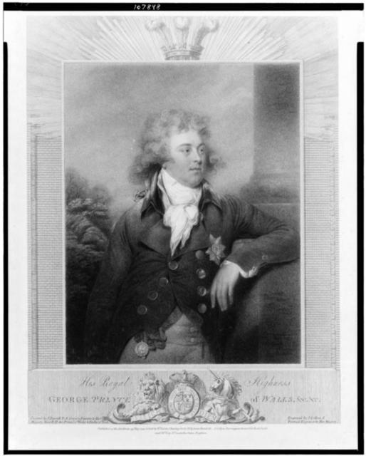 His royal highness George Prince of Wales / Painted by J. Russell ... ; engraved by J. Collyer ...