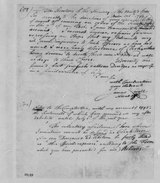 James Lovell to Albert Gallatin, October 1792