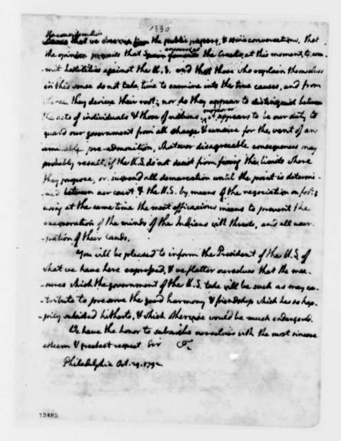 Josef de Jaudeness and Josef de Viar to Thomas Jefferson, October 29, 1792, Spanish with English Translation
