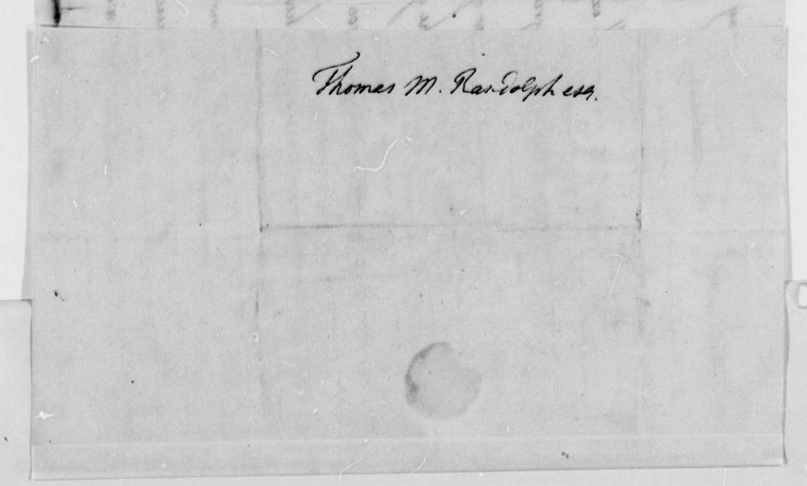Mary Jefferson to Thomas Mann Randolph, May 13, 1792