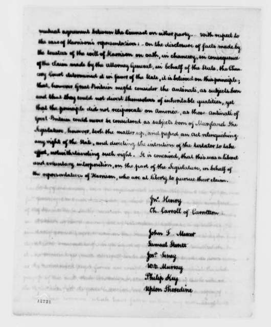 Maryland Legislature to Thomas Jefferson, April 23, 1792, Recovery of British Debts